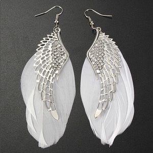 Jewelry - Angel Wing Feather Earrings
